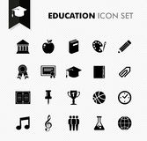 Concepto de la educación de nuevo a sistema fresco del icono de la escuela. Foto de archivo libre de regalías