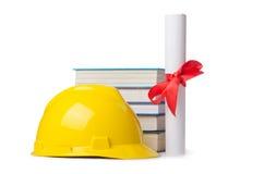 Concepto de la educación del sector de la construcción Imagenes de archivo