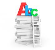 Concepto de la educación. Libros con la muestra de ABC Imagenes de archivo