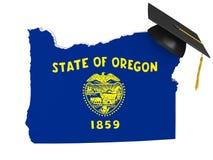 Concepto de la educación de la universidad y de la universidad de estado de Oregon, representación 3D Fotografía de archivo