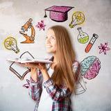 Concepto de la educación y del conocimiento Foto de archivo