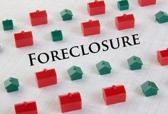 Concepto de la ejecución de una hipoteca del mercado inmobiliario Fotografía de archivo libre de regalías