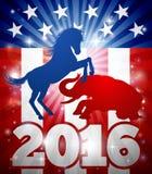 Concepto de la elección de 2016 americanos Imágenes de archivo libres de regalías
