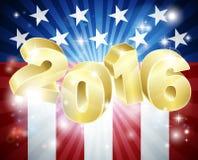 Concepto de la elección de la bandera americana 2016 Imagenes de archivo