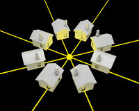 Concepto de la electricidad Imagenes de archivo