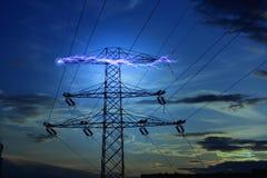 Concepto de la electricidad Imágenes de archivo libres de regalías