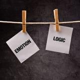 Concepto de la emoción o de la lógica Fotos de archivo libres de regalías