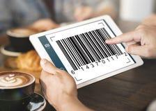 Concepto de la encripción de la identificación de datos del código de barras fotografía de archivo libre de regalías