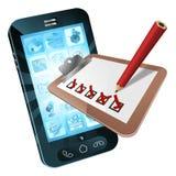 Concepto de la encuesta sobre teléfono móvil stock de ilustración