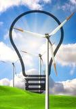 Concepto de la energía eólica stock de ilustración