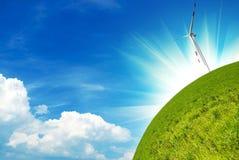Concepto de la energía limpia Foto de archivo libre de regalías