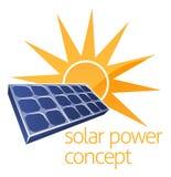 Concepto de la energía solar Fotos de archivo libres de regalías