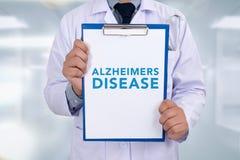 Concepto de la enfermedad de Alzheimers Imagen de archivo libre de regalías
