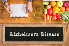 Concepto de la enfermedad de Alzheimers Imágenes de archivo libres de regalías