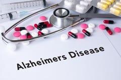 Concepto de la enfermedad de Alzheimers Foto de archivo