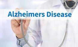 Concepto de la enfermedad de Alzheimers Imagenes de archivo