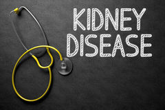 Concepto de la enfermedad de riñón en la pizarra ilustración 3D fotos de archivo