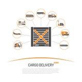 Concepto de la entrega del cargo Imágenes de archivo libres de regalías