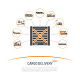 Concepto de la entrega del cargo Imagenes de archivo