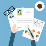 Concepto de la entrevista de trabajo Vector común libre illustration