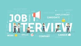 Concepto de la entrevista de trabajo libre illustration