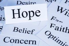 Concepto de la esperanza Imagen de archivo