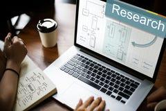Concepto de la estrategia de análisis de negocio de la investigación Imagen de archivo libre de regalías