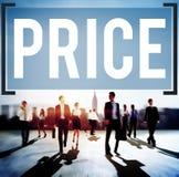 Concepto de la estrategia de marketing de la venta del coste del precio imagen de archivo libre de regalías