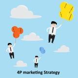 concepto de la estrategia de marketing 4P imagenes de archivo