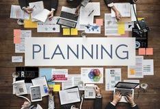 Concepto de la estrategia de Viosion de la solución de las operaciones del planeamiento del plan foto de archivo