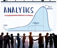 Concepto de la estrategia del progreso del informe del Analytics imágenes de archivo libres de regalías