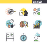 Concepto de la estrategia empresarial Fotografía de archivo