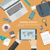 Concepto de la estrategia empresarial Imágenes de archivo libres de regalías