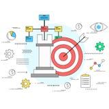 Concepto de la estrategia empresarial y del planeamiento Fotos de archivo libres de regalías