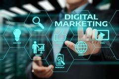 Concepto de la estrategia de la publicidad del planeamiento del contenido del márketing de Digitaces imagen de archivo