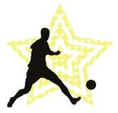 Concepto de la estrella de fútbol Foto de archivo libre de regalías