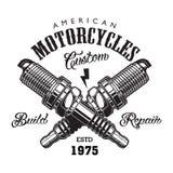 Concepto de la etiqueta de la motocicleta del vintage libre illustration