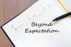 Concepto de la expectativa de Beyong fotos de archivo libres de regalías