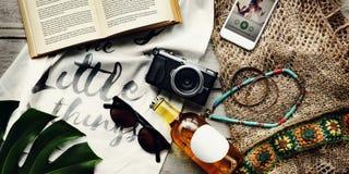 Concepto de la exploración del viaje de las vacaciones de las vacaciones de verano de la playa Fotografía de archivo libre de regalías