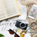 Concepto de la exploración del viaje de las vacaciones de las vacaciones de verano de la playa Foto de archivo
