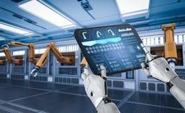 Concepto de la fábrica de la automatización libre illustration