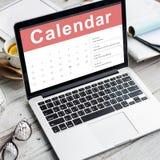 Concepto de la fecha de la reunión de la cita del calendario Fotografía de archivo libre de regalías