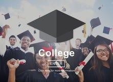 Concepto de la felicidad de Celebration Education Graduation del estudiante Foto de archivo libre de regalías