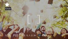 Concepto de la felicidad de Celebration Education Graduation del estudiante Fotografía de archivo