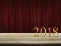 Concepto 2018 de la Feliz Año Nuevo Fotografía de archivo libre de regalías