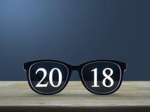 Concepto 2018 de la Feliz Año Nuevo Fotografía de archivo