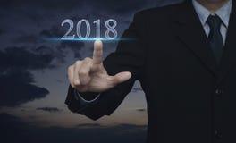 Concepto 2018 de la Feliz Año Nuevo Foto de archivo libre de regalías