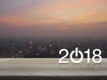 Concepto 2018 de la Feliz Año Nuevo Foto de archivo