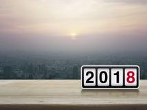 Concepto 2018 de la Feliz Año Nuevo Imagen de archivo