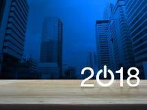 Concepto 2018 de la Feliz Año Nuevo Fotos de archivo